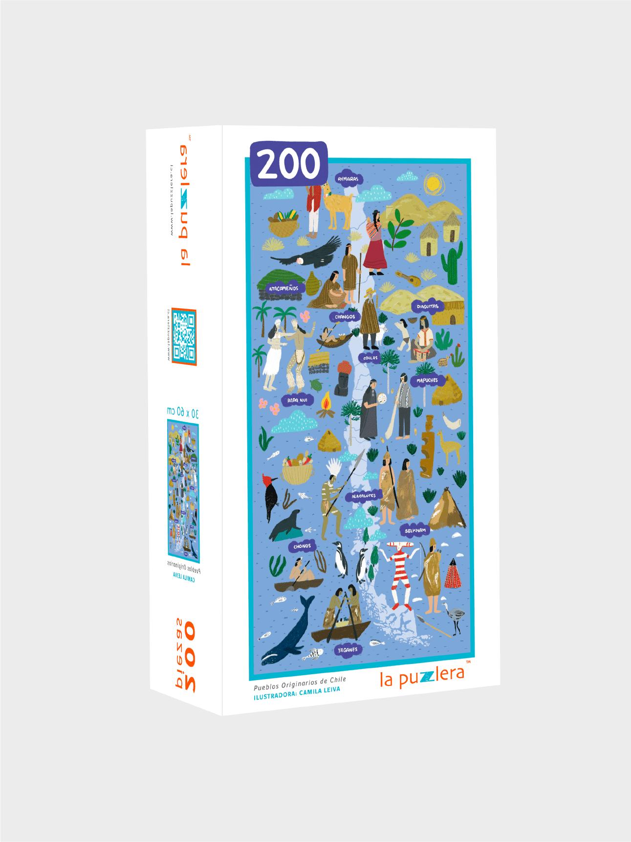 Puzzle 200 Piezas Pueblos Originarios de Chile