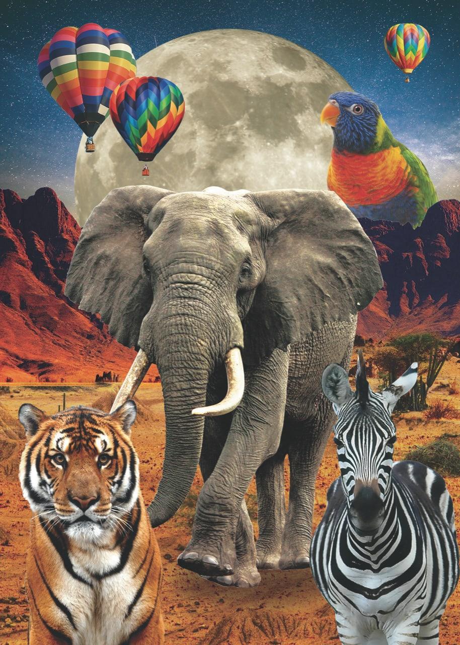 Lamina collage animales