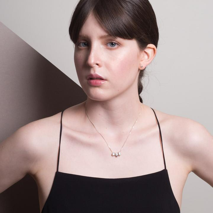 Gea - Collar Triple Plata
