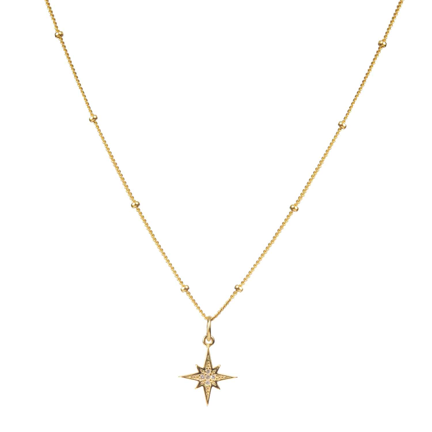 COLLAR GOLD VERMEIL NORTHSTAR