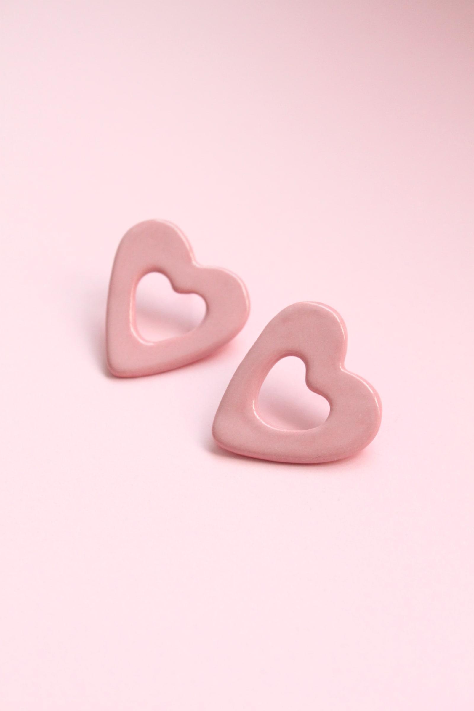 Aros Corazón de una pieza palo rosa