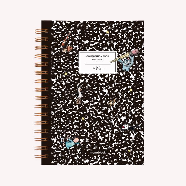 Cuaderno A5 15x21 TD ANI PUNTEADO 2019 LINIERS COMPOSITION BOOK