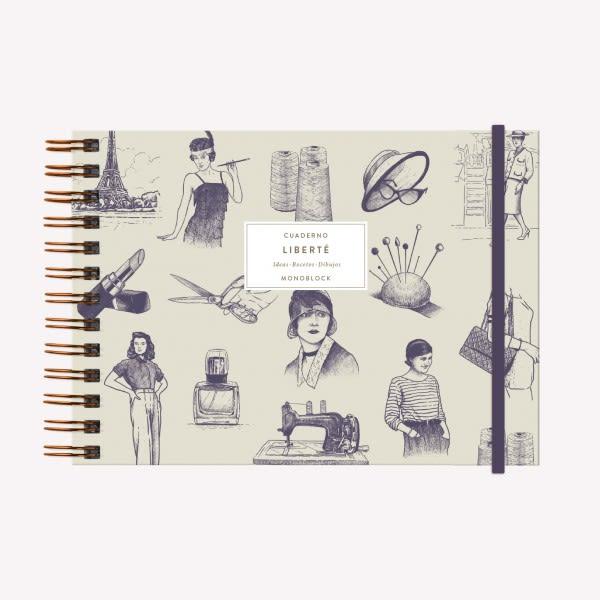 Cuaderno Anillado Apaisado - Coco Chanel