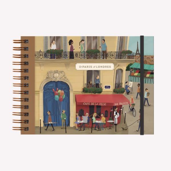 Cuaderno Anillado Apaisado de Viajes - De Paris a Londres