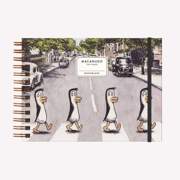 Cuaderno Anillado Apaisado - Pinguinos Beatles