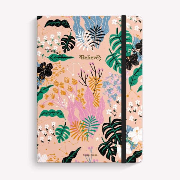 Cuaderno Cosido Punteado - Believe Botanico