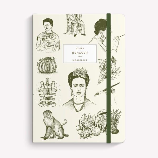 Cuaderno Cosido Rayado - Frida Crudo