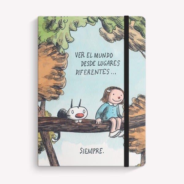Cuaderno A5 15x21 COSIDO RAYADO 2019 LINIERS LUGARES DIFERENTES