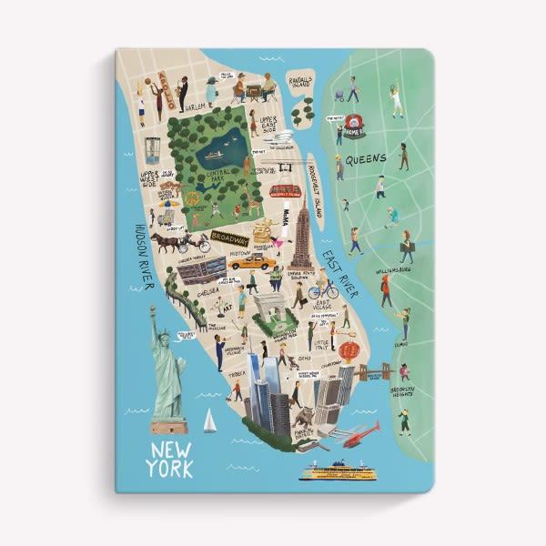 Cuaderno Cosido Rayado - New York