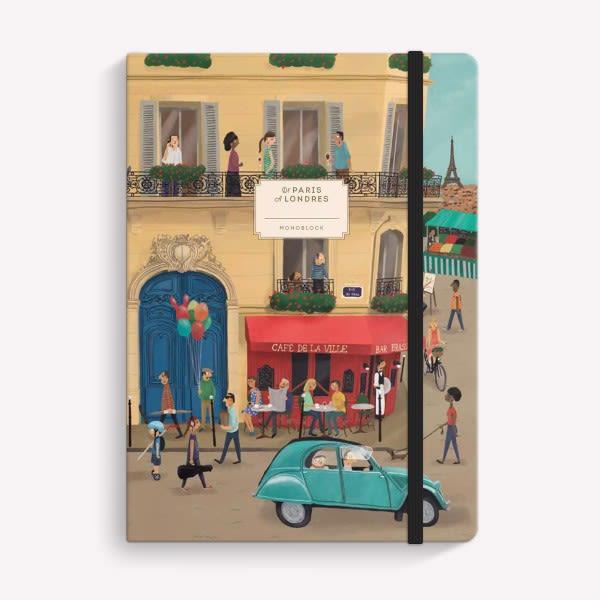 Cuaderno Cosido Rayado - Paris Londres