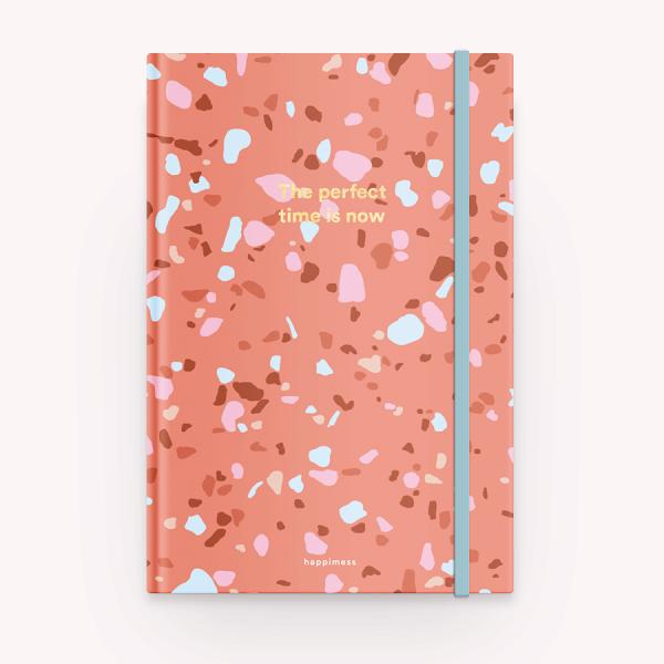 Cuaderno Cosido Rayado Tapa Dura - Terrazo