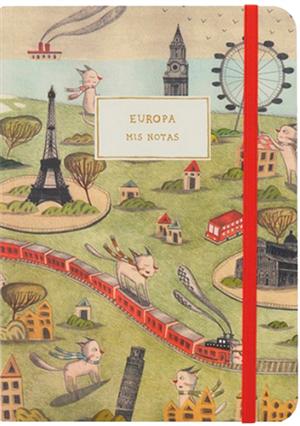 Cuaderno europa monoblock hojas blancas