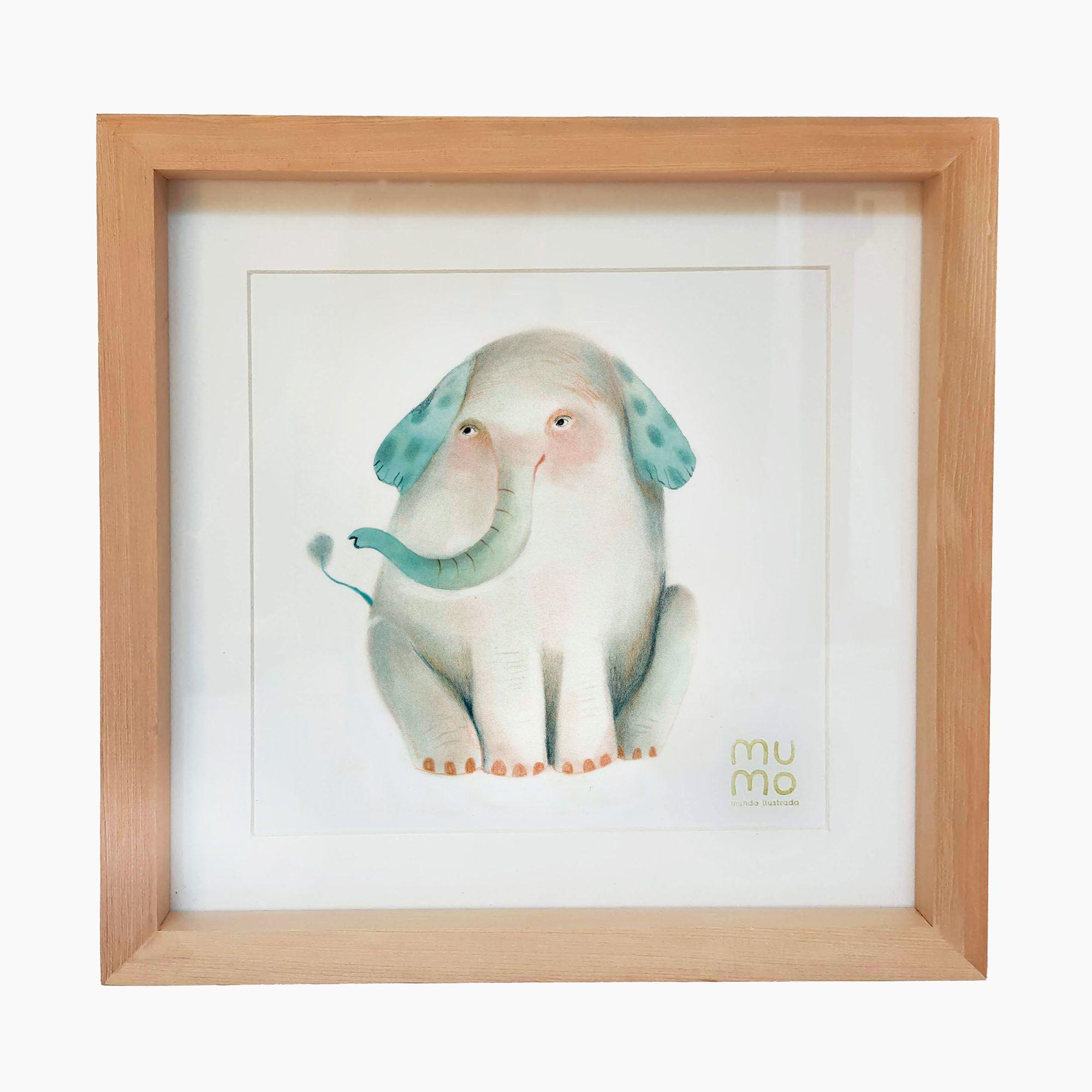 Cuadro Elefante 30 x 30 cms