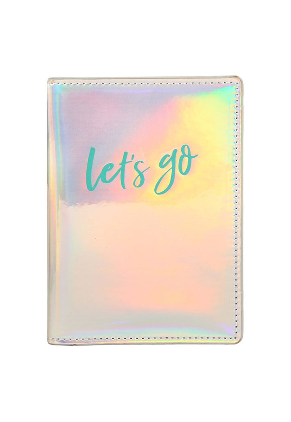 Passport Case Iridescent Let's Go