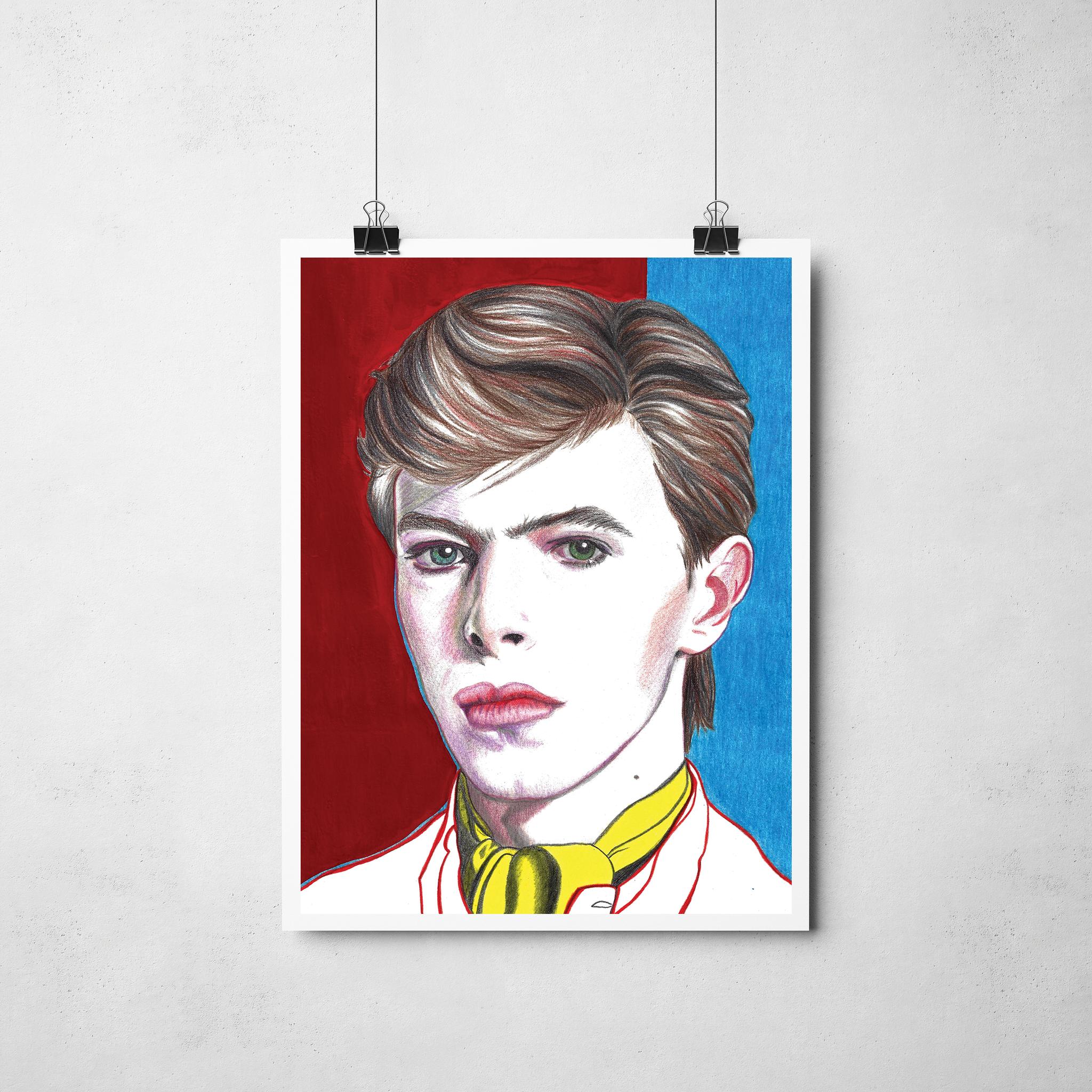 Lámina Ilustración David Bowie - Roció Mera