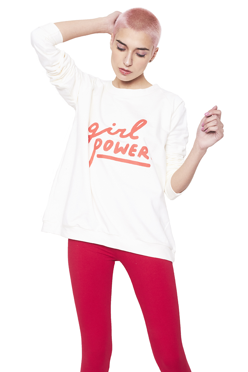 Poleron crudo girl power rojo