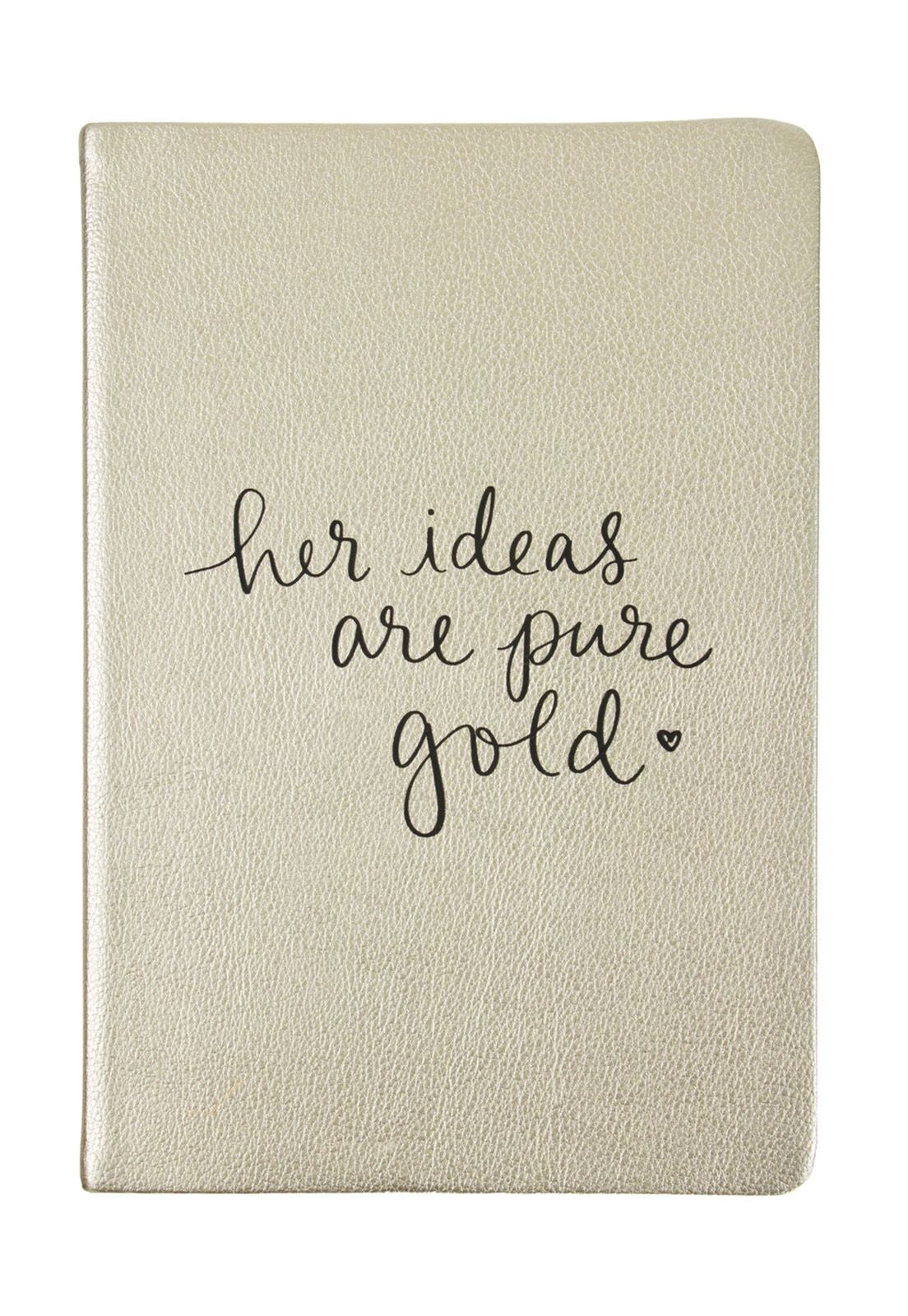 Dayna Lee Journal Gold Her Ideas Are Gold 15x20cm