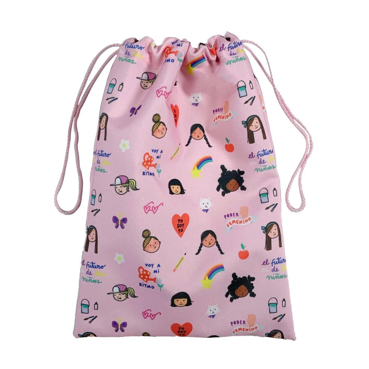 """Bolsa rosado """"con mis colores propios"""""""