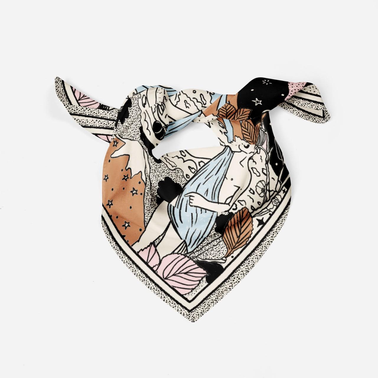 Pañuelo Ilustración Love 78x78 - Cacachilupi