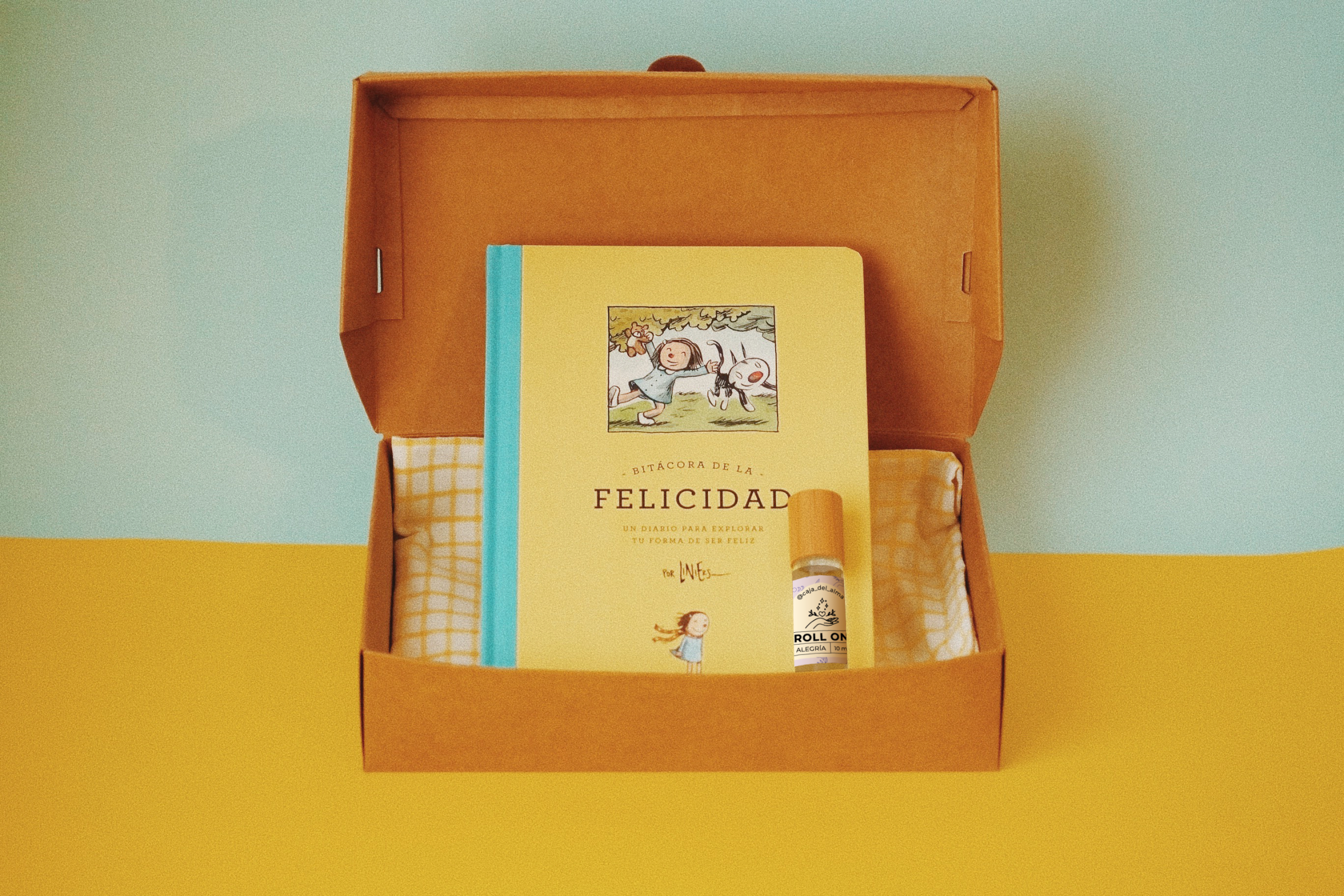 Happy Box Bitácora de la Felicidad + Roll on Alegria