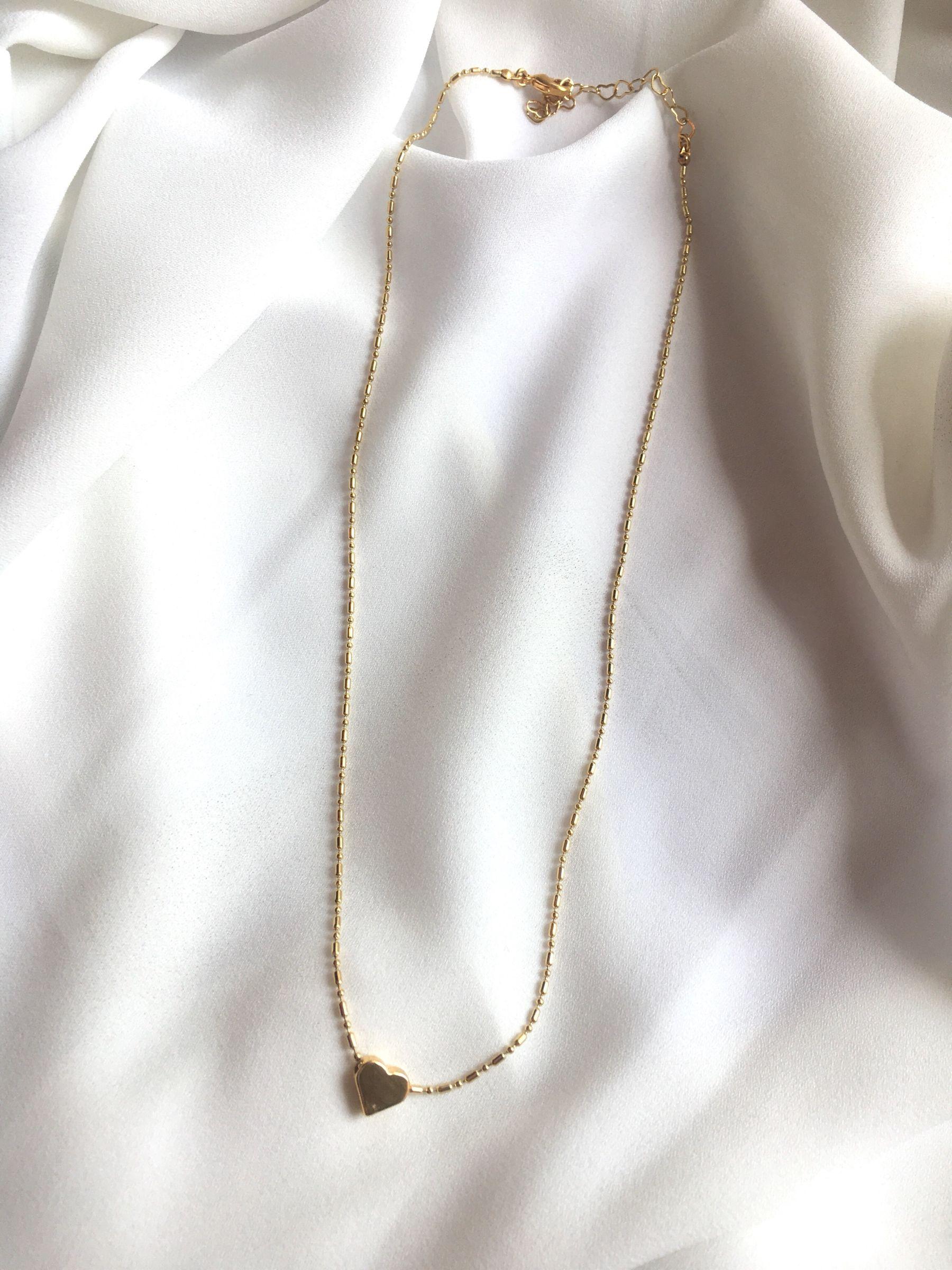 Collar Gold 24K Corazon