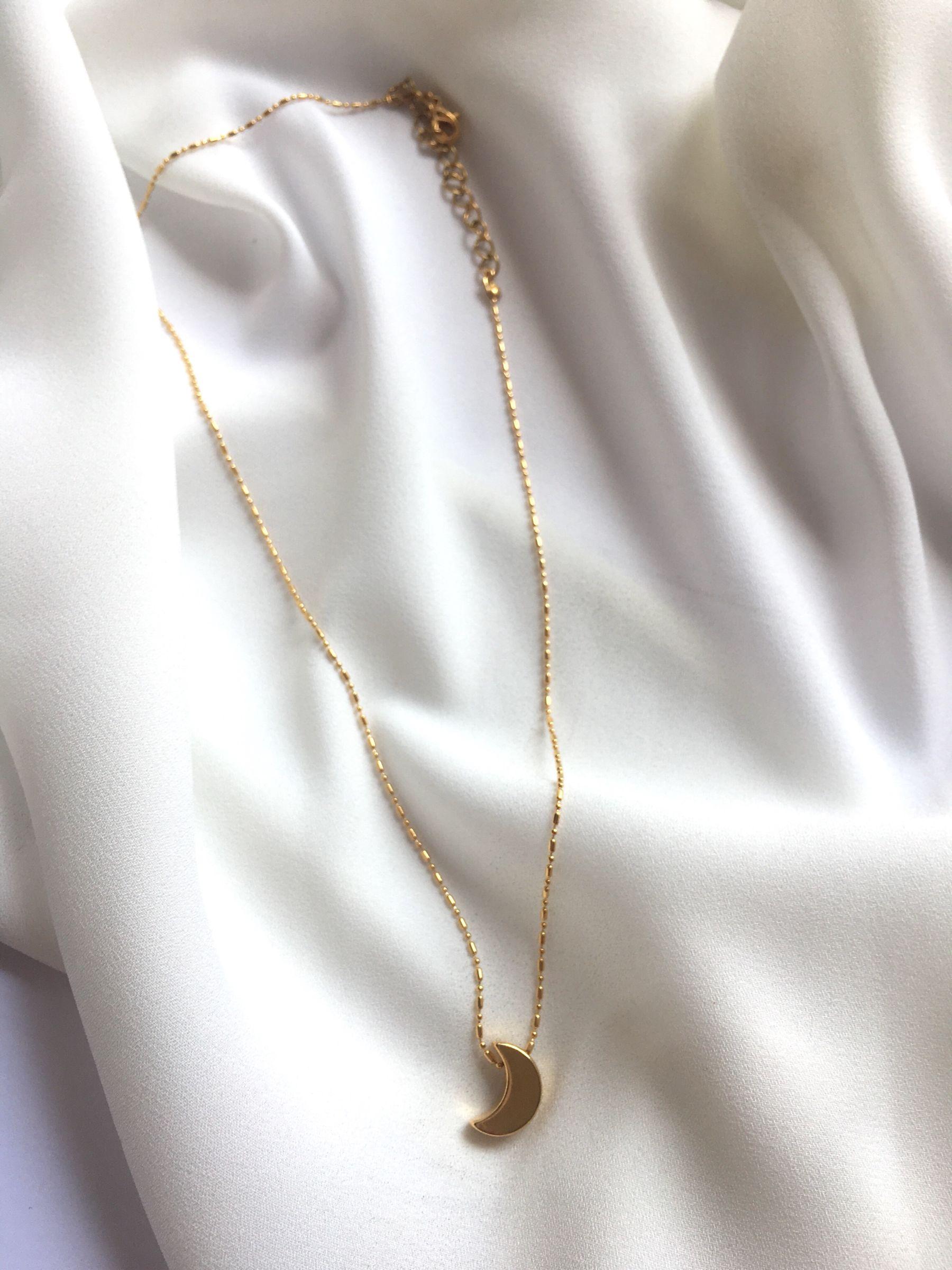 Collar chico gold 24k Luna