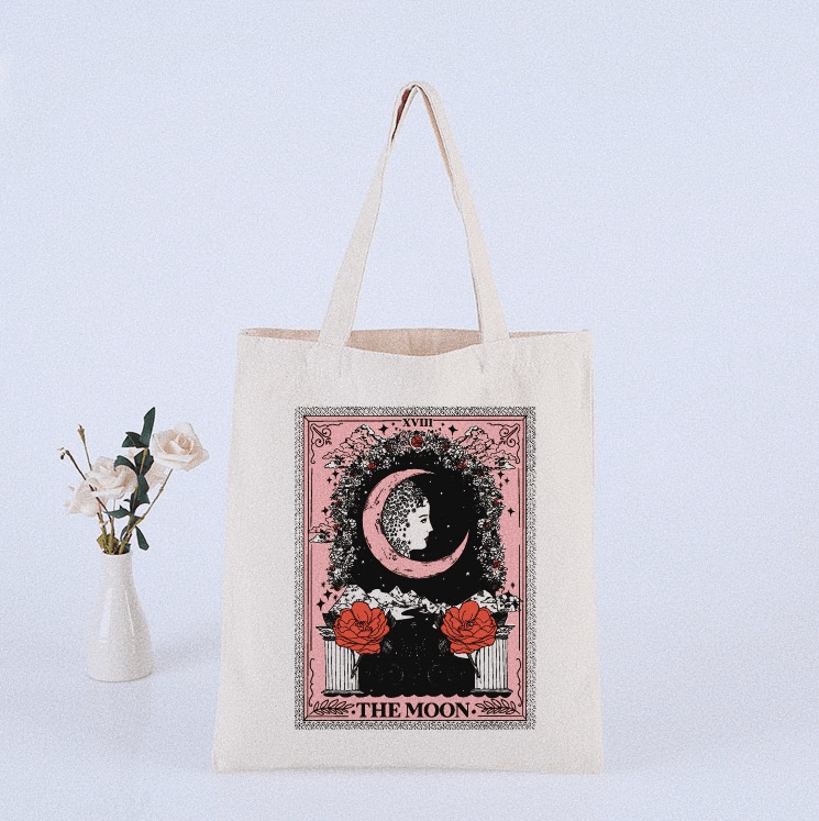 Totebag The Moon Rosada