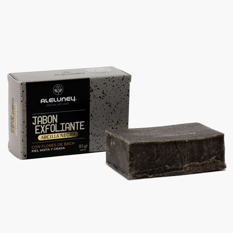 Jabón exfoliante arcilla negra 85 gr