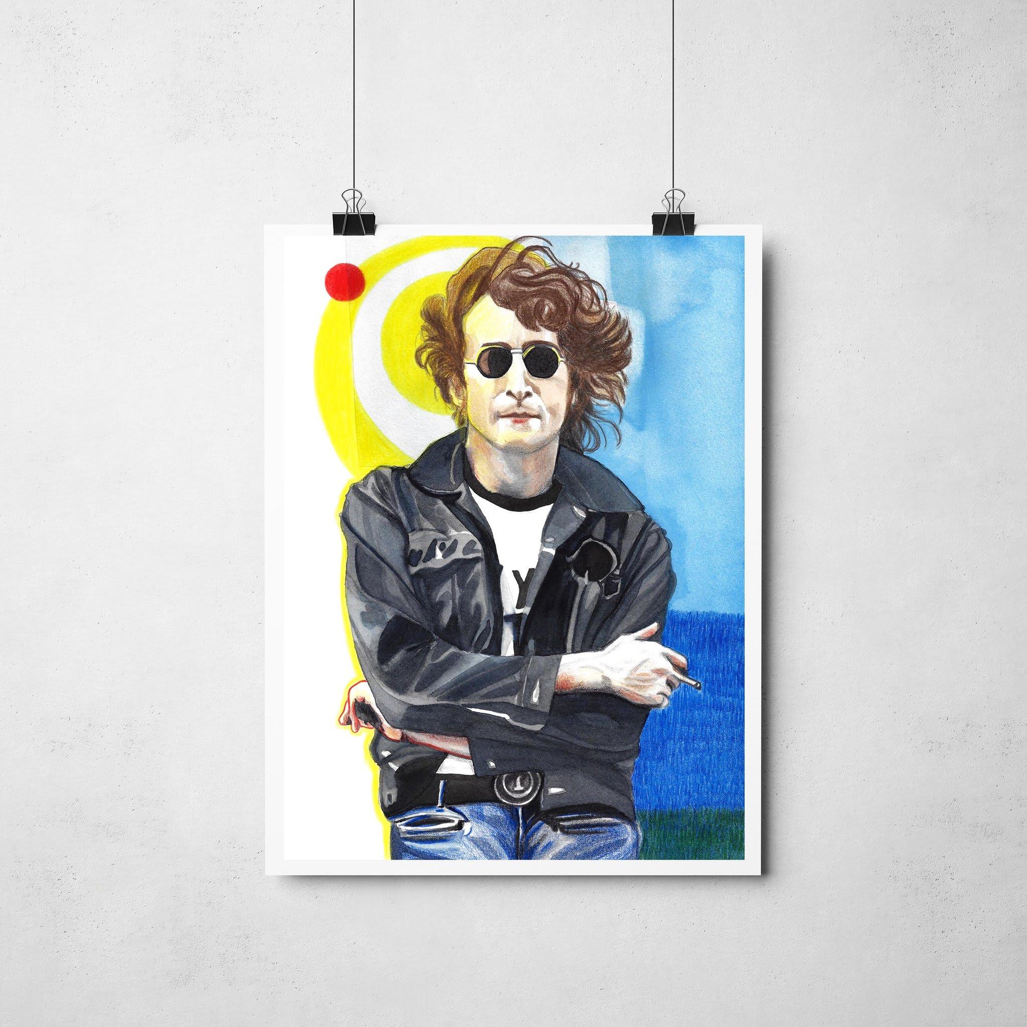 Lámina Ilustrada John Lennon - Roció Mera