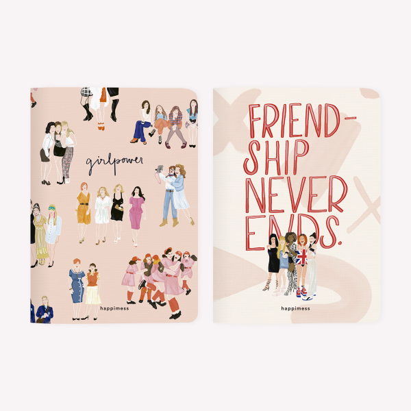 Libreta x2 - Amigas Girl Power