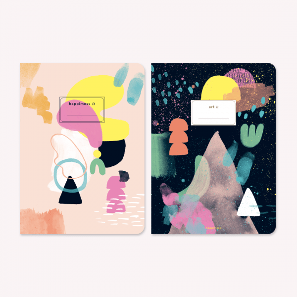 Libretas Grandes x2 Happimess Arte