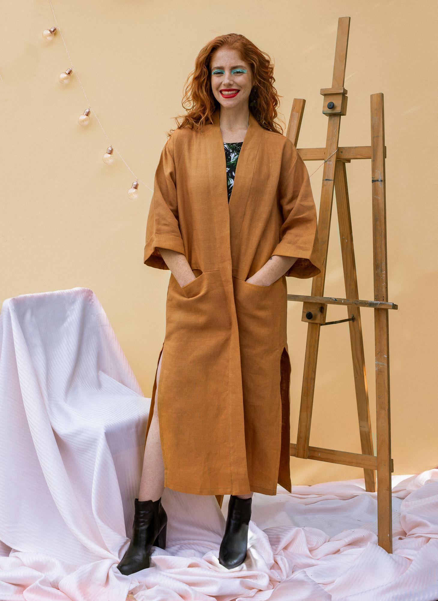 Kimono Long Mostaza