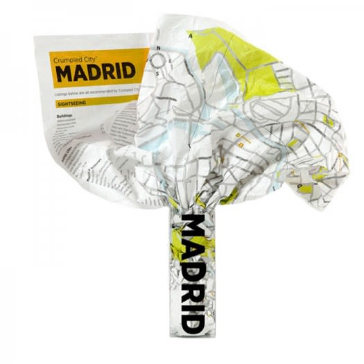 Crumpled City Map - Madrid