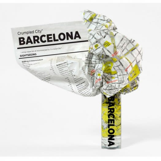 Crumpled City Map - Barcelona
