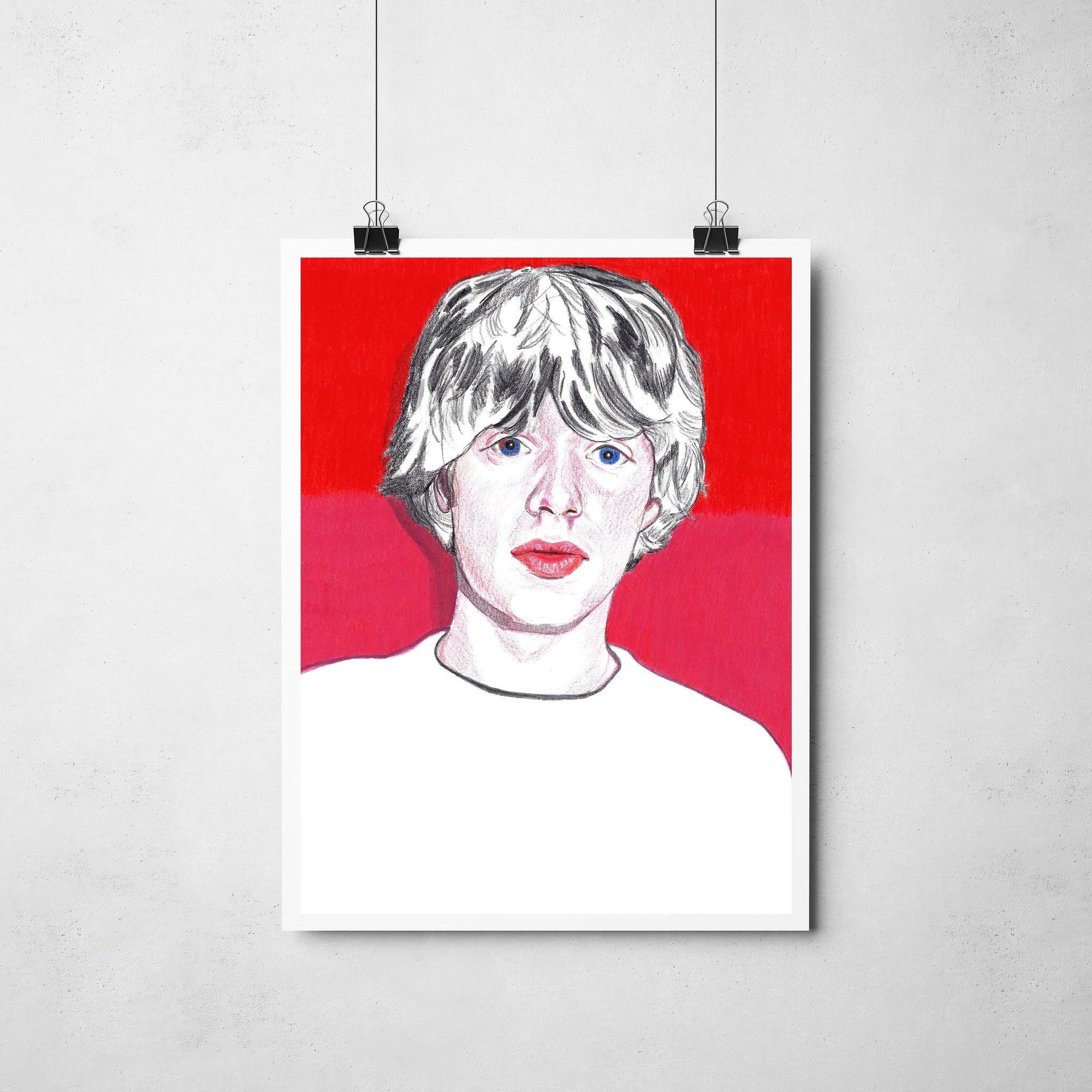 Lámina Ilustrada Mick Jagger - Rocio Mera