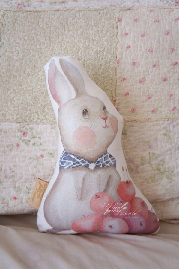 Mini cojin Bunny Manzanas