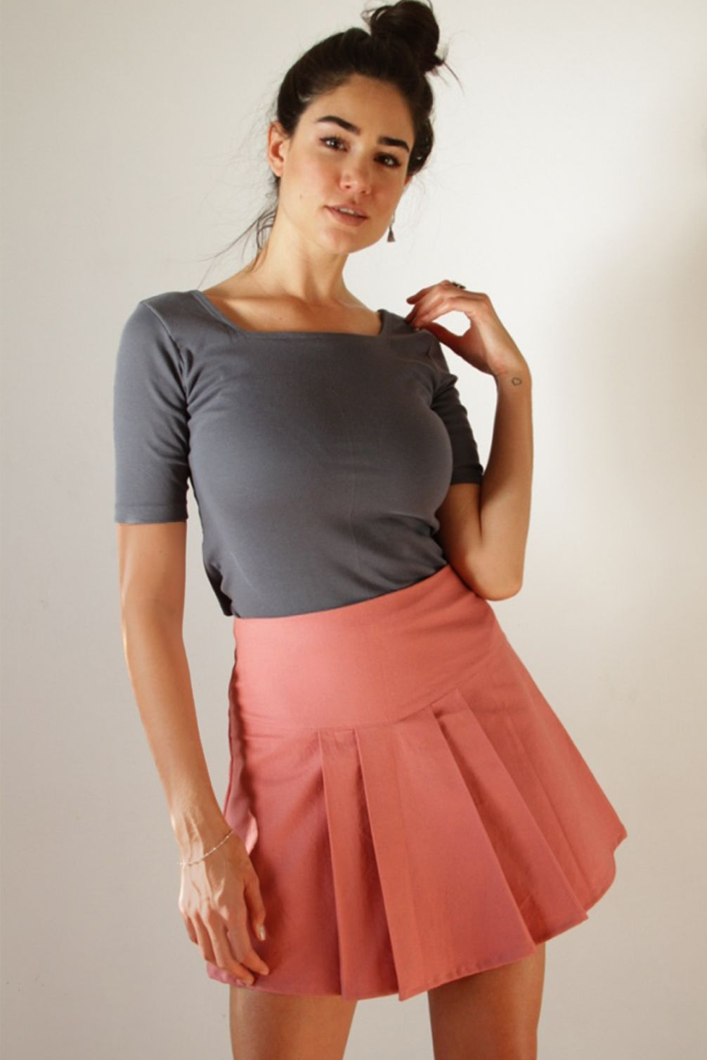Mini Falda Martina Rosada