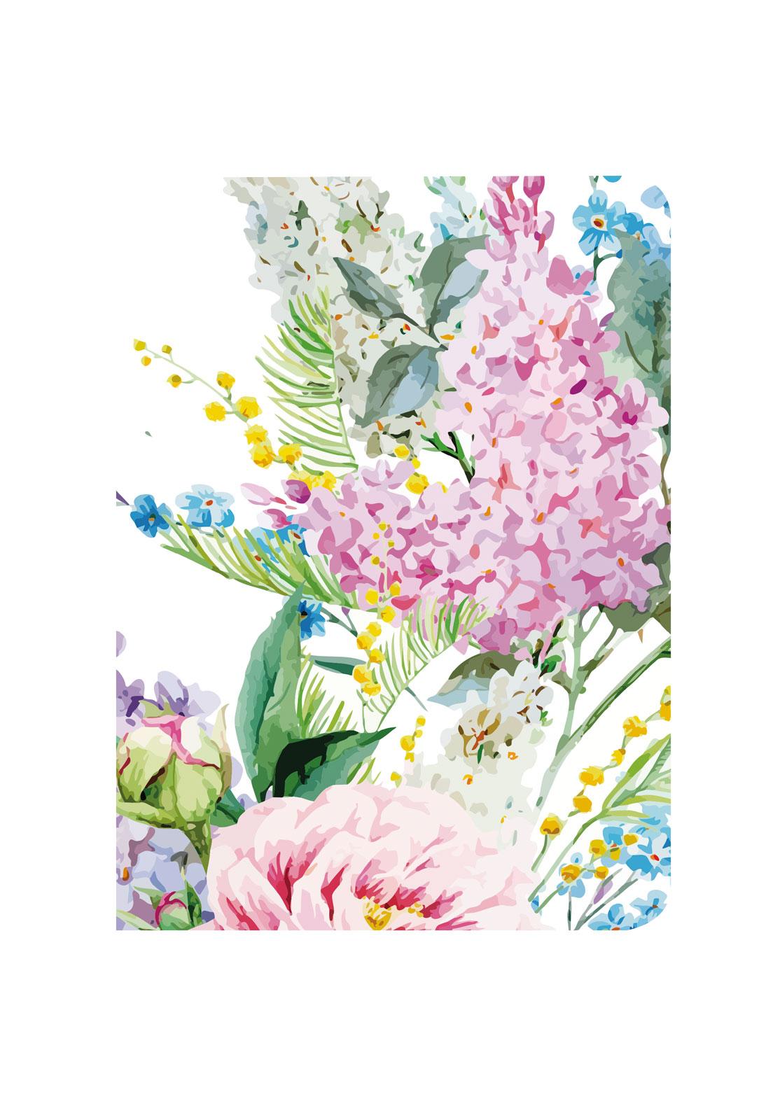 Libreta blanca hortensias