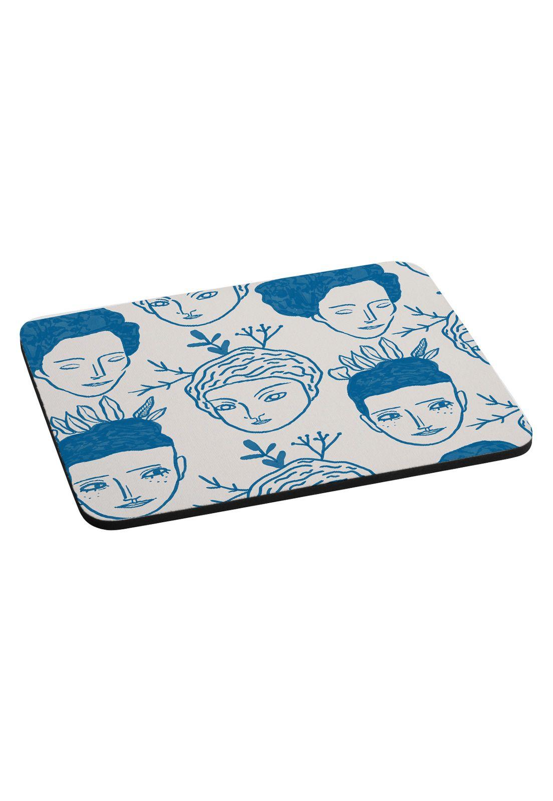 Mousepad Faces blue