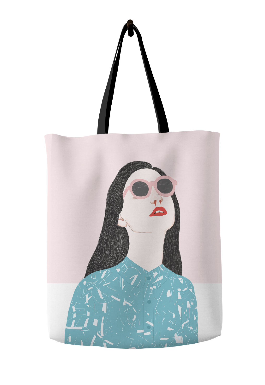 Tote bag blood girl dieresis