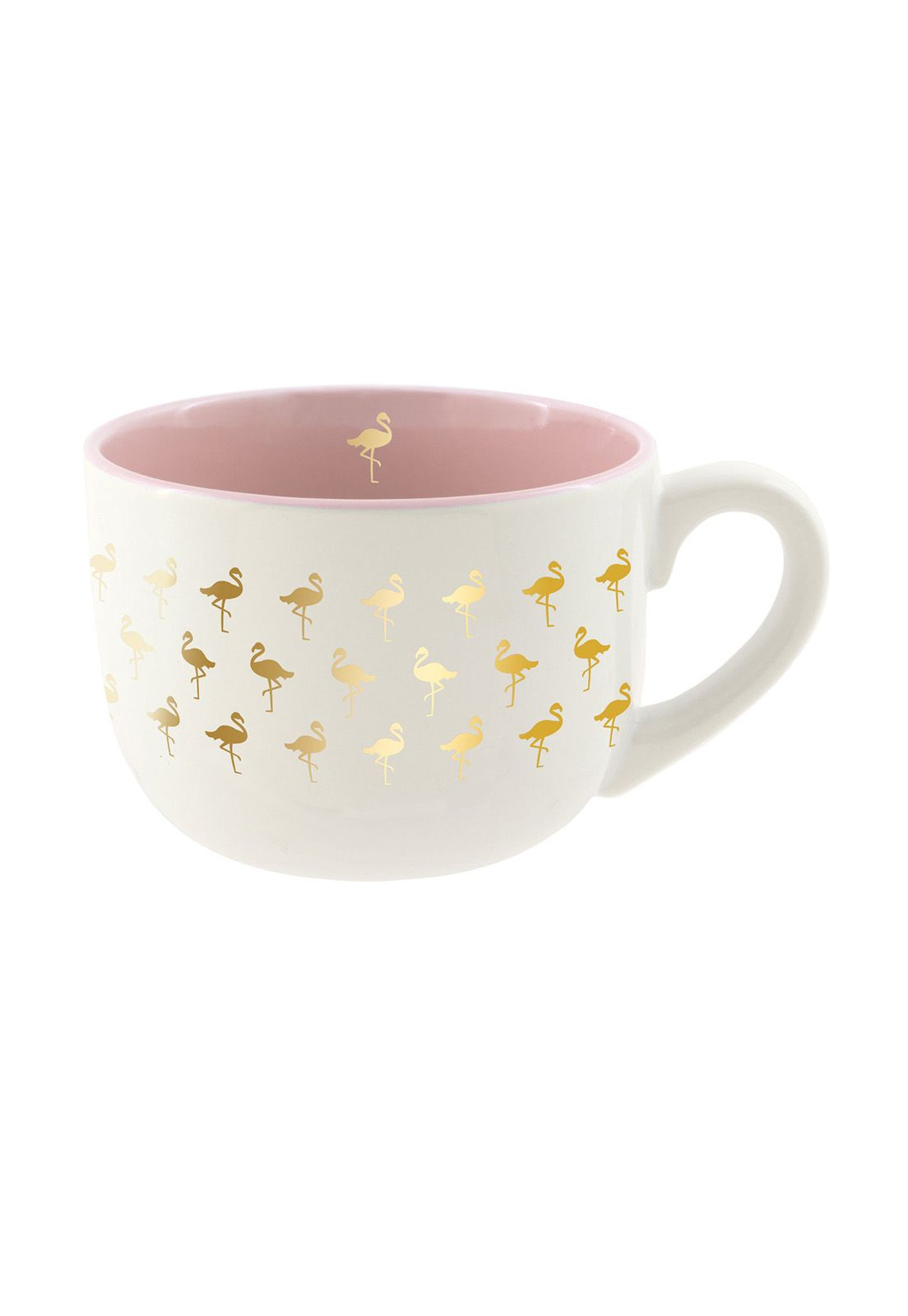 Soup Mug Pink Flamingo