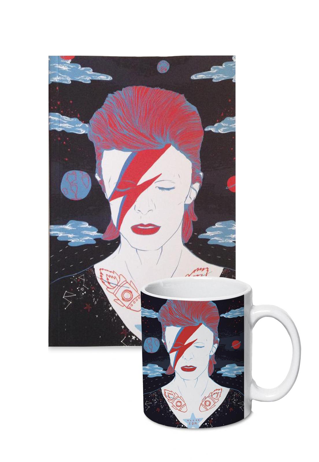 Pack libreta y tazon Bowie