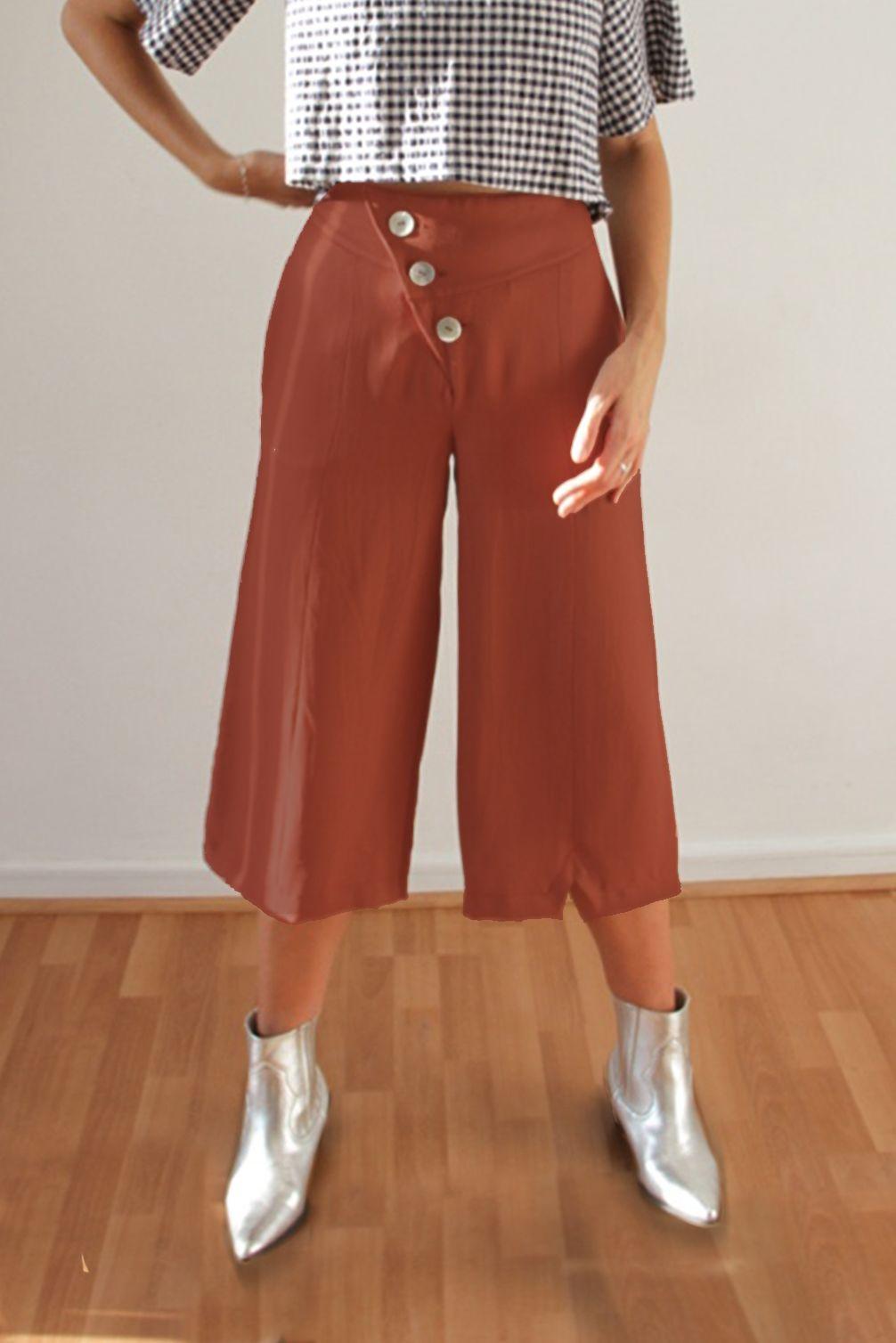 Pantalon Franka Terracota