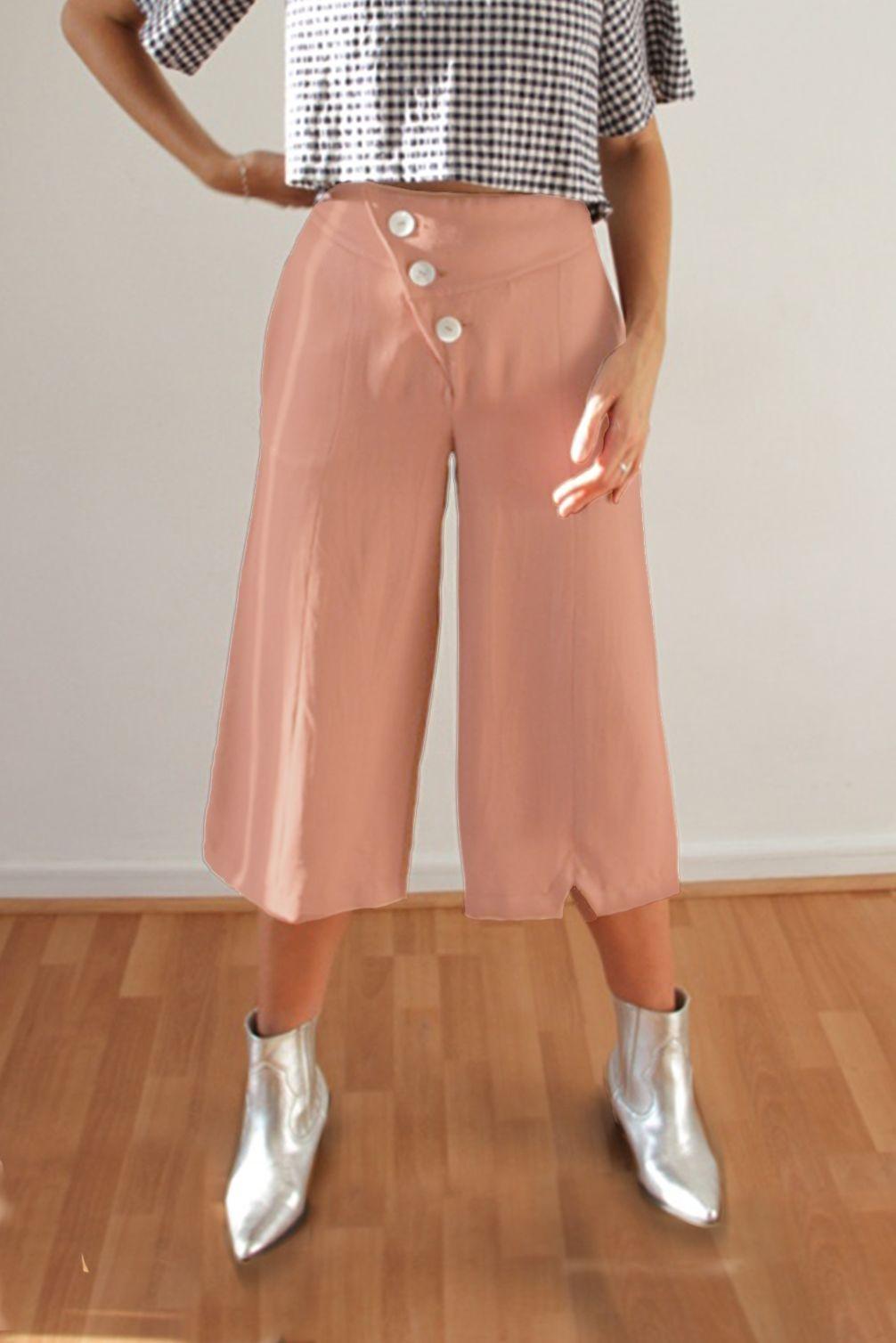Pantalon Culotte Fraka Rosado