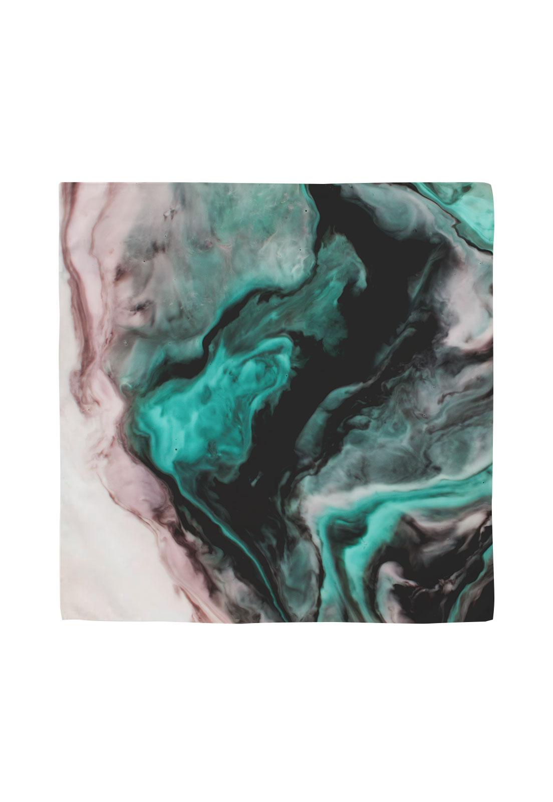 Pañuelo 50x50  marmolado verde