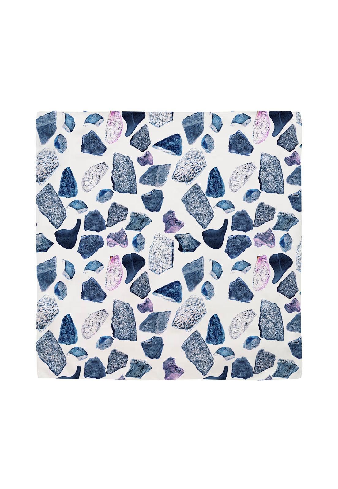 Pañuelo 50x50 minerales azul