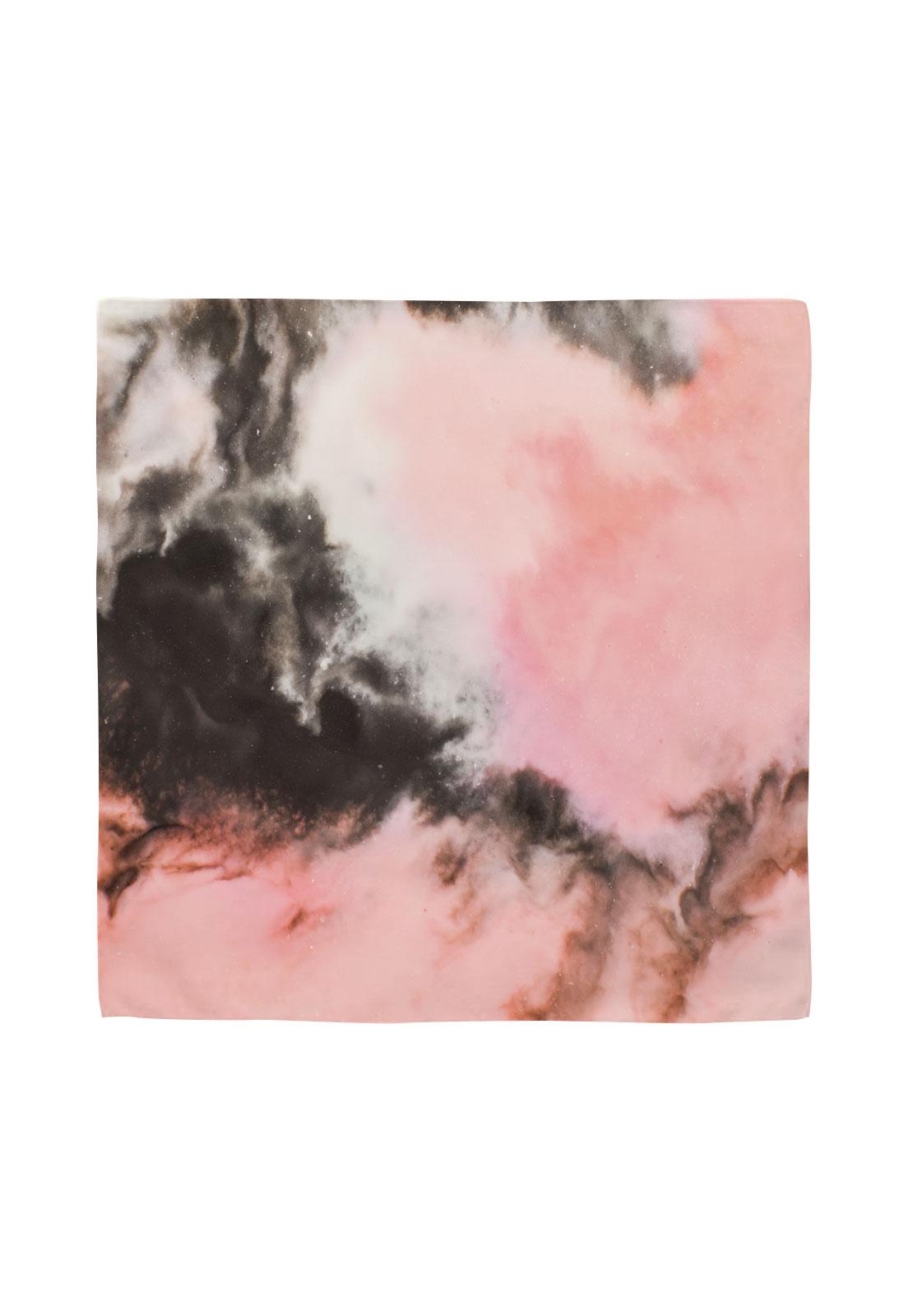 Pañuelo 50x50 marmolado rosado