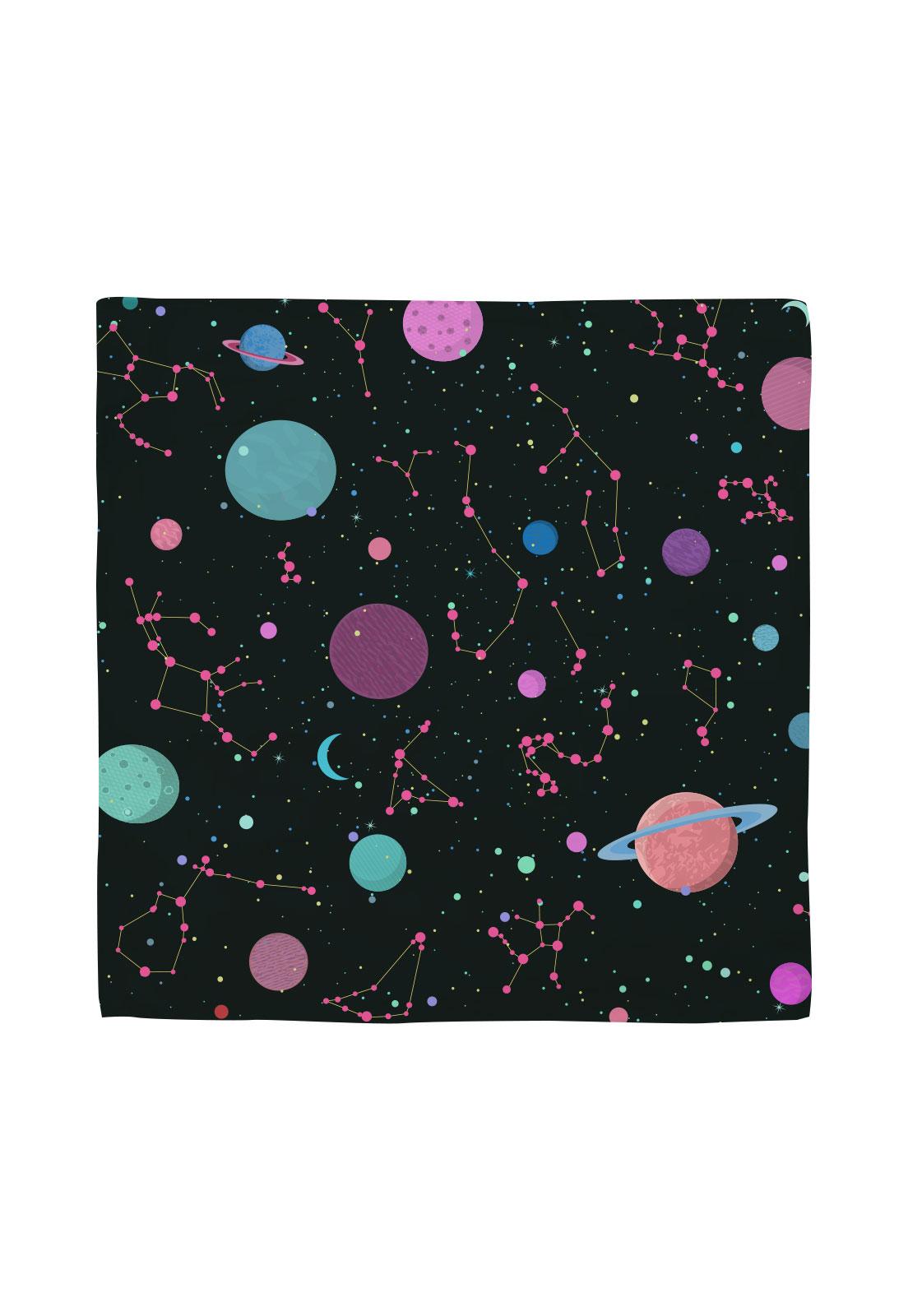 Pañuelo 50x50 galaxia colores