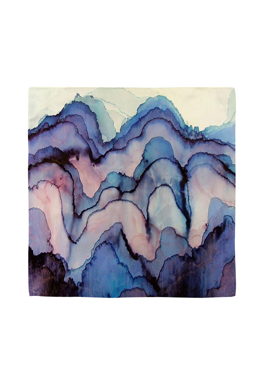 Pañuelo 50x50 aquarela morado