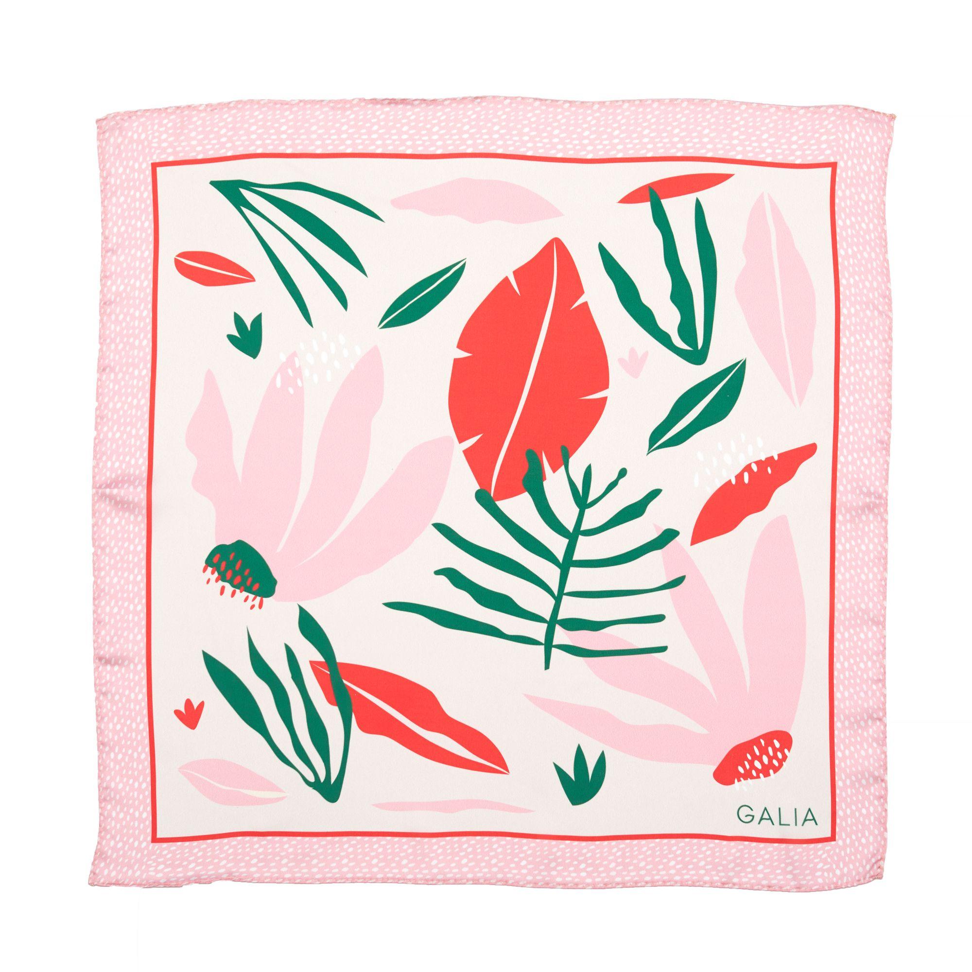 Pañuelo Floral Rojo - Galia